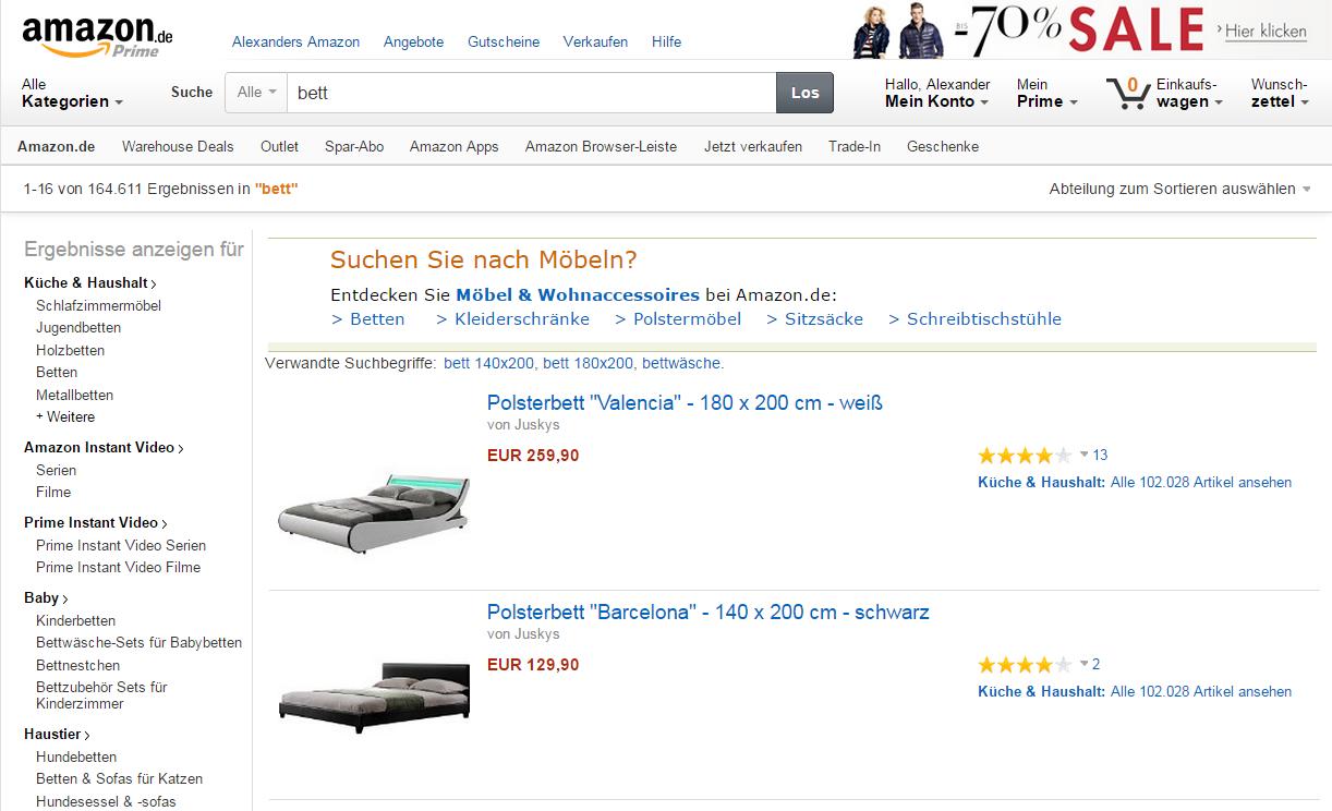 Amazon-Bett